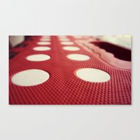 polka dot Canvas Prints featuring Polka dot by Losal Jsk