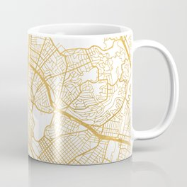 OAKLAND CALIFORNIA CITY STREET MAP ART Coffee Mug