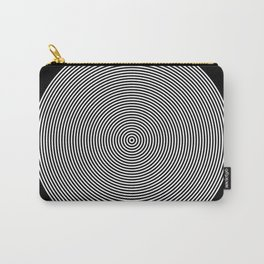 Hypnotic Circles optical illusion Carry-All Pouch
