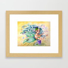 Bubble Fairy Framed Art Print