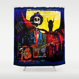 BLUES MAN Shower Curtain