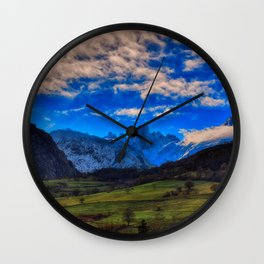 Naranjo de Bulnes in Picos de Europa National Park. Wall Clock