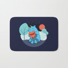 Rawrmeo, the Cuddly Happy Chaos Monster Bath Mat