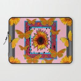 SOUTHWEST ART BUTTERFLIES SUNFLOWERS Laptop Sleeve