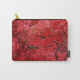 Charming Red Flower Carry-All Pouch