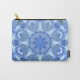 Blue Mosaic Mandala Carry-All Pouch