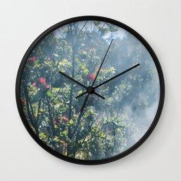 ʻŌhiʻa lehua steam Wall Clock