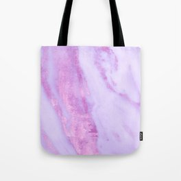 Pink Marble - Shimmery Magenta Gold Marble Metallic Tote Bag