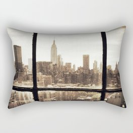 i love NY vintage Rectangular Pillow