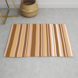 Coffee color stripes Rug