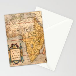 Map Of Africa 1572 Stationery Cards