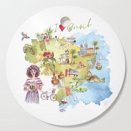 Brasil Map Cutting Board