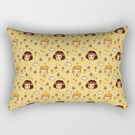 Amelie movie pattern Rectangular Pillow