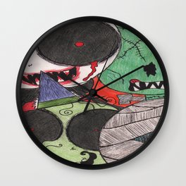 Ghoulish Guests Wall Clock