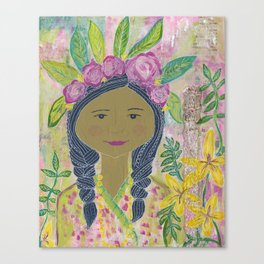 Warrior Spirit Zendaya Rose Canvas Print