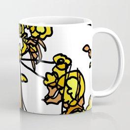 Golden Petals on Branches Coffee Mug