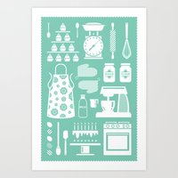 baking Art Prints featuring Baking Graphic by Modart Design