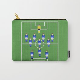 Football Soccer sports team in blue Carry-All Pouch