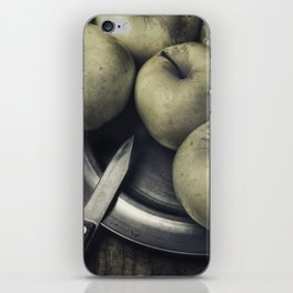 Still life with green apples iPhone Skin