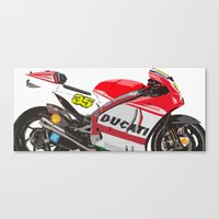 ducati Canvas Prints featuring Ducati GP15 by Larsson Stevensem