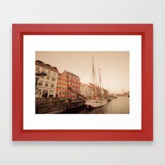 By the Nyhavn Framed Art Print