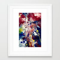 fireworks Framed Art Prints featuring Fireworks by Tia Hank