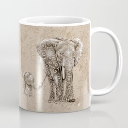 Swirly Elephant Family Coffee Mug