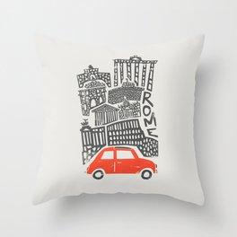 Rome Cityscape Throw Pillow