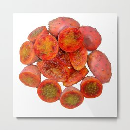 Tropical Red Prickly Pear Fruit  Metal Print