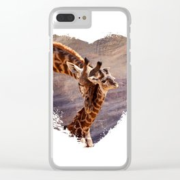 Tender Heart Clear iPhone Case