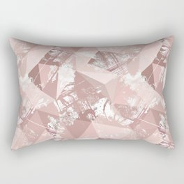 Folded paper under glass. Rectangular Pillow