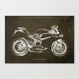 01- D Superbike 1299 Panigale 2015 BROWN Canvas Print