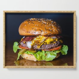 Delicious Hamburger Serving Tray
