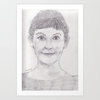 amelie Art Prints featuring Amelie by jamestomgray