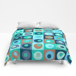 Circles and Squares Pattern 3 Comforters