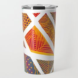 Geometric doodle pattern - multicolor Travel Mug