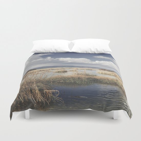 """Waiting for the storm"" At the lake... Duvet Cover"