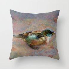 Rainbow bird Throw Pillow