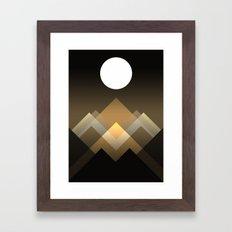Path between hills Framed Art Print