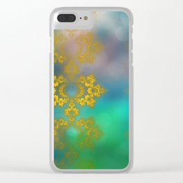 Gold lace decoration Clear iPhone Case