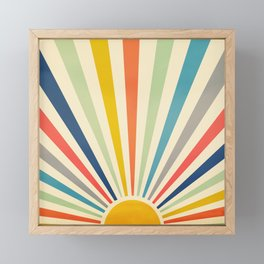Sun Retro Art III Framed Mini Art Print
