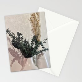 Minimal Floral Vase Arrangement Stationery Cards