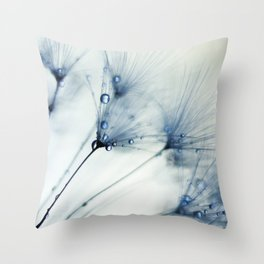 dandelion blue II Throw Pillow