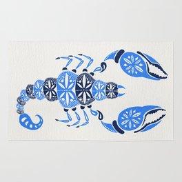Blue Scorpion Rug