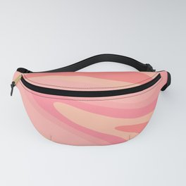 Retro Swirls Abstract Pattern in Blush Pink Tones Fanny Pack