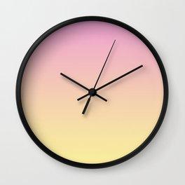 Pink, orange, yellow gradient. Ombre Wall Clock
