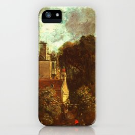 """John Constable """"The Grove, or the Admiral's House in Hampstead"""" iPhone Case"""