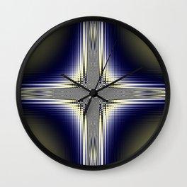 Fractal Cross Wall Clock
