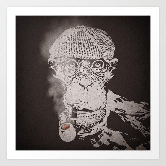The Coffee Shop Philosopher  Art Print