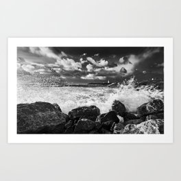 Burry Port Lighthouse Art Print